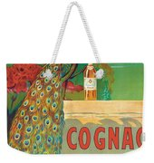 Vintage Poster Advertising Cognac Weekender Tote Bag by Camille Bouchet