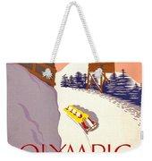 Vintage Poster - Olympics - Lake Placid Bobsled Weekender Tote Bag