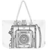 Vintage Press Camera Patent Drawing Weekender Tote Bag