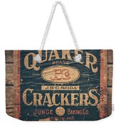 Vintage Quaker Crackers For The Kitchen Weekender Tote Bag
