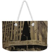 Vintage Radio City Music Hall Weekender Tote Bag