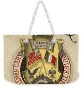 Vintage Train Ad 1897 Weekender Tote Bag