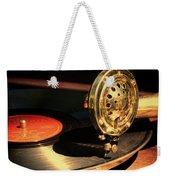 Vintage Record Player Weekender Tote Bag