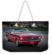 Vintage Red 1966 Ford Mustang V8 Convertible  E48 Weekender Tote Bag
