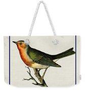 Vintage Robin Square Weekender Tote Bag