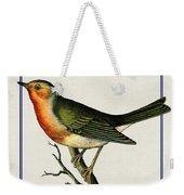 Vintage Robin Vertical Weekender Tote Bag