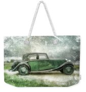 Vintage Rolls Royce Weekender Tote Bag by David Ridley