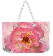Vintage Rose Square Weekender Tote Bag