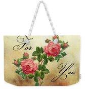 Vintage Roses For You Weekender Tote Bag