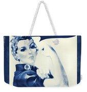 Vintage Rosie The Riveter Weekender Tote Bag by Dan Sproul