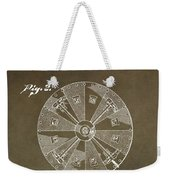 Vintage Roulette Wheel Patent Weekender Tote Bag