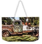 Vintage Rusty Old Truck 1940 Weekender Tote Bag