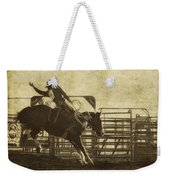 Vintage Saddle Bronc Riding Weekender Tote Bag