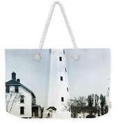 Vintage Sandy Hook Lighthouse Weekender Tote Bag