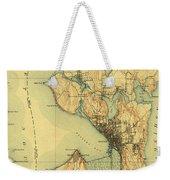 Vintage Seattle Map Weekender Tote Bag