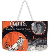 Vintage Sheet Music Cover Circa 1896 Weekender Tote Bag by M Witmmark and Sons