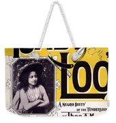 Vintage Sheet Music Cover  Circa 1898 Weekender Tote Bag