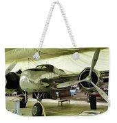 Vintage Silver Bomber Airplane Weekender Tote Bag