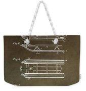 Vintage Sled Patent Weekender Tote Bag