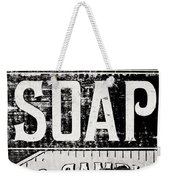 Vintage Soap Crate In Black And White Weekender Tote Bag