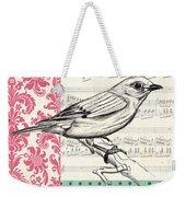 Vintage Songbird 1 Weekender Tote Bag