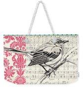 Vintage Songbird 4 Weekender Tote Bag