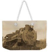 Vintage Steam Locomotive Weekender Tote Bag