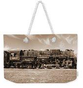 Vintage Steam Locomotive Weekender Tote Bag