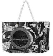 Vintage Steam Tractor Black And White Weekender Tote Bag