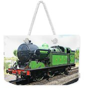 Vintage Steam Train In Green  Weekender Tote Bag