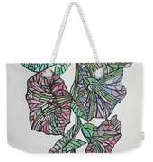 Vintage Style Stained Glass Morning Glory Weekender Tote Bag