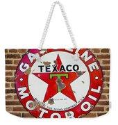 Vintage Texaco Gasoline Sign Dsc07195 Weekender Tote Bag