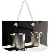 Vintage Tin Cups Weekender Tote Bag