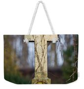 Vintage Tombstone Cross Weekender Tote Bag