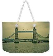 Vintage Tower Bridge Weekender Tote Bag