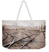 Vintage Tracks Weekender Tote Bag
