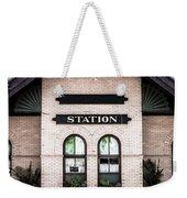 Vintage Train Station Weekender Tote Bag