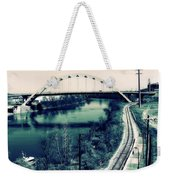 Vintage Train Tracks In Nashville Weekender Tote Bag