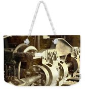 Vintage Train Wheel Weekender Tote Bag