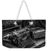 Vintage Typewriter Weekender Tote Bag by Adrian Evans