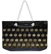 Vintage Typology Weekender Tote Bag by Heather Applegate