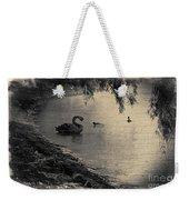 Vintage Views II - Swans And Cygnets Weekender Tote Bag by Chris Armytage