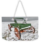 Vintage Wagon In The Snow E98 Weekender Tote Bag