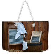 Vintage Washboard Laundry Day Weekender Tote Bag