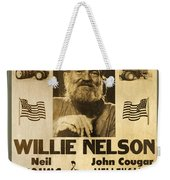 Vintage Willie Nelson 1985 Farm Aid Poster Weekender Tote Bag