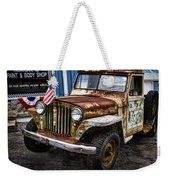 Vintage Willy's Jeep Pickup Truck Weekender Tote Bag