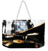 Vinyl Record Weekender Tote Bag