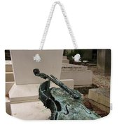 Violen Sculpture In Pere Lachaise Cemetery Weekender Tote Bag
