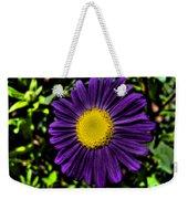 Violet Aster Weekender Tote Bag