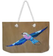 Violet-breasted Roller Bird II Weekender Tote Bag